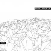 Broken texture. abstract background — Stock Vector