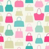 Handbag seamless pattern. — Stock Vector