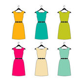 Dress Collection. Vector illustration. — Stock Vector