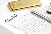 Gold Bar Gold Market Price Chart — Stock Photo