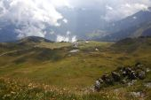 Mountain panorama in the Alps — Stock Photo