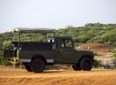 Jeep for tourists safari — Stock Photo