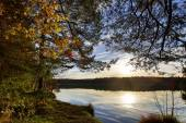 HDR capture of a lake in Bavaria in autumn — Stock Photo