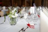 Laid wedding table — Stock Photo