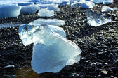 Ice floes at glacier lagoon Jokulsarlon — Stock Photo