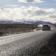 Car driving along the ring road in Iceland — Stock Photo #73248967