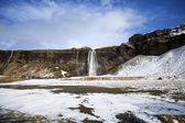 Waterfall Seljalandsfoss in Iceland — Stock Photo
