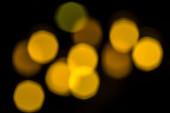 Blurry yellow bokeh — Stock Photo