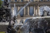 Closeup of Latona fountain at Herrenchiemsee, Bavaria — Stock Photo