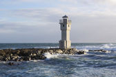 Lighthouse at the port of Akranes, Iceland — Stock Photo