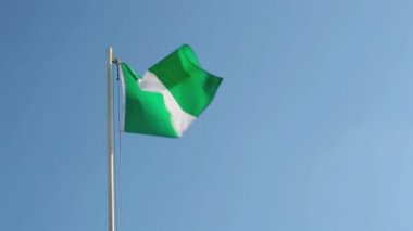 Nigerian flag in slow motion — Stock Video
