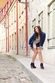 model on the street — Stock Photo