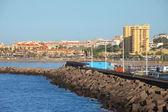 Los Cristianos resort town in Tenerife — Stock Photo
