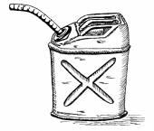 Retro cartoon gas can — Stock Vector