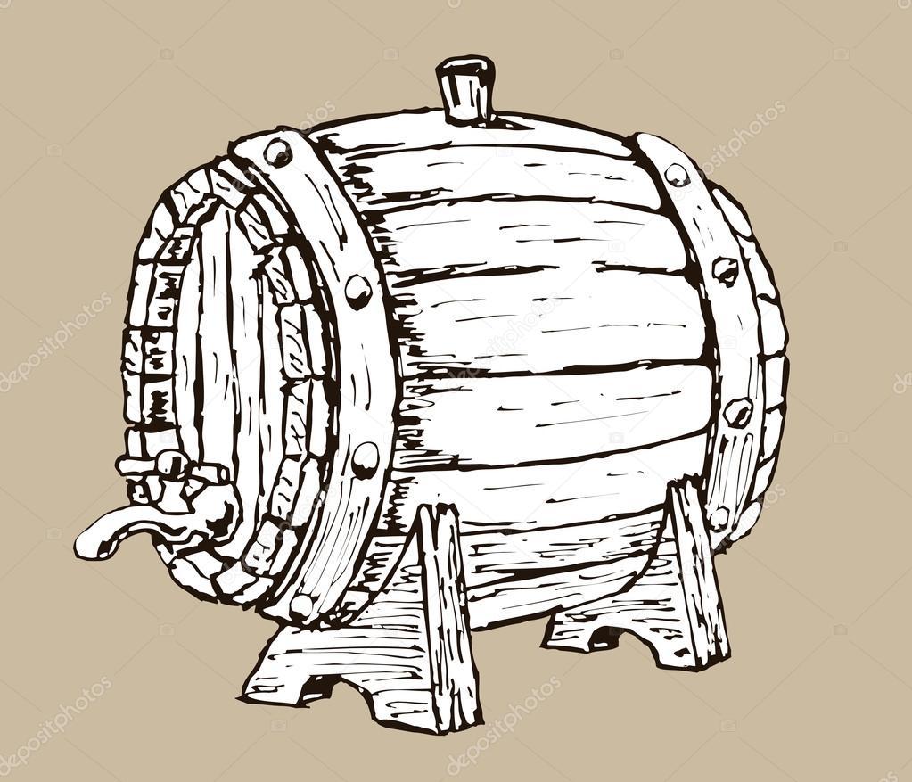 wooden barrel stock vector gorbovoi81 53472403. Black Bedroom Furniture Sets. Home Design Ideas
