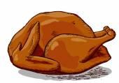 święto dziękczynienia turcji — Wektor stockowy