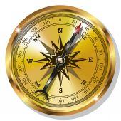 Golden Compass — Cтоковый вектор