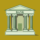 Flat bank icon. — Stock Vector