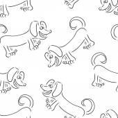 Dog Dachshund — Stock Vector
