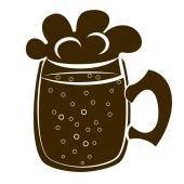 Beer mug silhouette vector — Stock Vector