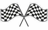 Checkered flag racing — Vetorial Stock
