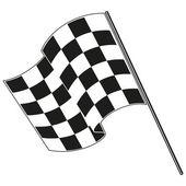 Checkered flag racing — Stock Vector
