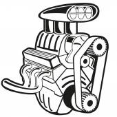Vektör motoru — Stok Vektör