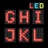 Fuente LED — Vector de stock