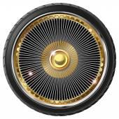 Retro wheel with spokes — Stock Vector