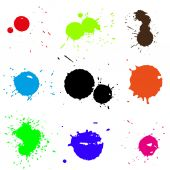 Colored blobs set — Stock Vector