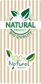 Natural bio quality tags — Stock Vector
