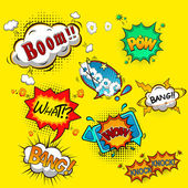 Comic speech bubbles vector — Vector de stock