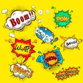 Comic speech bubbles vector — Vecteur