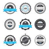 Premium quality, guarantee badges vector — Stock Vector
