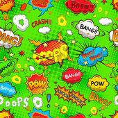 Comic speech bubbles seamless pattern vector — Stock Vector
