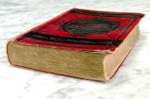 Old book with red binding — Stock Photo
