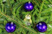 Four Christmas ornaments — Stock Photo