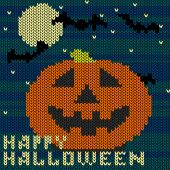 Knitted pattern Halloween — Cтоковый вектор