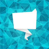Polygonal background with origami frame — Vetorial Stock