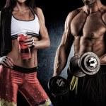 ������, ������: Beautiful athletic couple