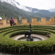 Hohenschwangau castle garden in the Bavarian Alps - Germany  — Stock Photo #53401777