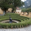 Hohenschwangau castle garden in the Bavarian Alps - Germany — Stock Photo #53401805