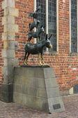 The Bremen town musicians statue — Stock Photo
