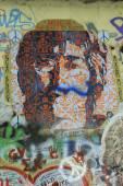 The Lennon Wall ,PRAGUE, CZECH REPUBLIC — Stock Photo