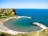 Bolata beach, near cape Kaliakra, seen from above,Bulgaria — Stockfoto