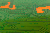 Electronic circuit close-up. Macro background — Stock Photo