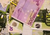 Banknotes of euros background — Stock Photo