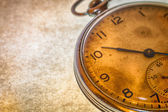 Russian antique pocket watch on brown background — Stock Photo
