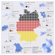 Dot And Flag Map Of Germany Infographic Design — Stock Vector #52621829