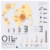 Map Of Oil Reserves Of The World Infographic — Stock Vector